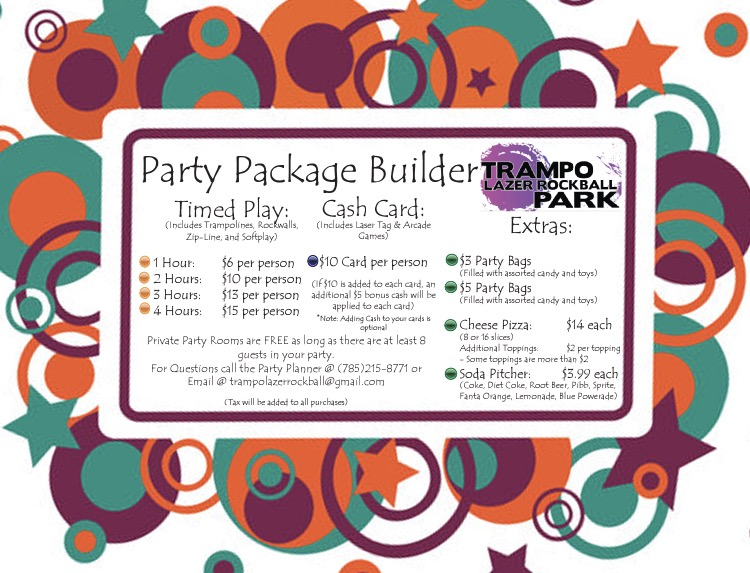 Party Builder Pricing