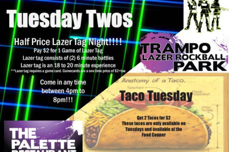 Tuesday Twos!! 4pm To 8pm